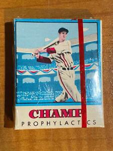 Rare! 1/4 Dozen -  1950 Champ Prophylactics Ted Williams