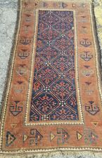 An Attractive Blue Background Color Tribal Rug