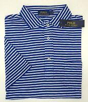 NWT $85 Polo Ralph Lauren Blue White Striped SS Shirt Mens S M L XL Cotton NEW