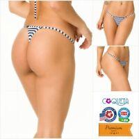 Coqueta Bikini Swimwear G string Cheeky Swimsuit Marine Brazilian Micro Thong