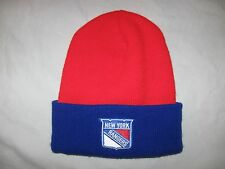 New York Rangers Stocking Cap Beanie Hat Adult One Size NHL NYR NYC