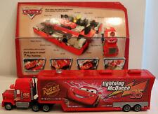 DTE 2005 MATTEL CARS MACK TRUCK SET: RUST-EZE LIGHTNING MCQUEEN PLAYSET NIOB