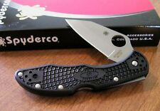 SPYDERCO New Kahr Black FRN Handle Delica Plain Edge VG-10 Blade Knife/Knives