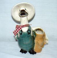 Mr. Ceramics Hand Painted Farmer Goose Ceramic Figurine Vase # 475