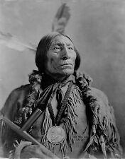 "Chief Wolf Robe, Native American Cheyenne Indian,1904 portrait Photo, 14""x11"""
