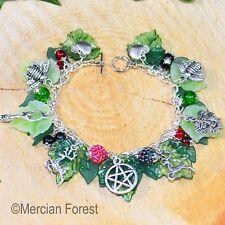 Bosque de verano diosa Greenman Pulsera-Pagano Joyería wicca Litha solsticio