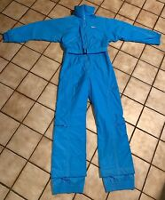 Vintage Robert John One Piece Ski Snowsuit Women size 10 Baby Blue Nice