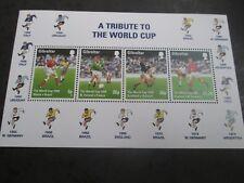GIBRALTAR 1998 World Football Championships Mini sheet SG 827 mnh