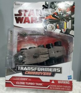 Star Wars Transformers Crossovers Commander  CODY to CLONE TURBO TANK 2009