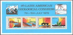 Trinidad & Tobago 1979 Latin America Geology Congress Souvenir Sheet MNH (SC# 31