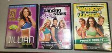 Fitness Dvd Lot Jillian Michaels Biggest Loser Dancing With The Stars