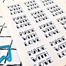 96 Made with love tattoo style stickers. Made with love seals. Made with love En