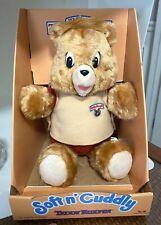 Vintage Soft 'n Cuddly Teddy Ruxpin Plush Bear Doll 1988 New NRFB