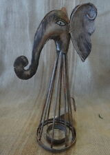 Quirky Elephant Iron T-light Candle Holder 24x9x11cm