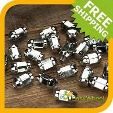 "20 Chrome Closed End Bulge Acorn Wheel Lug Nuts, 7/16-20, 3/4"" Hex"