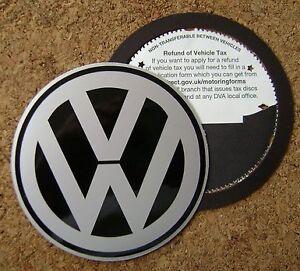 Magnetic Tax disc holder fits volkswagen vw ie golf passat eos rabbit polo gt
