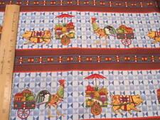 Jim Shore Animal Parade Stripe Cotton Fabric