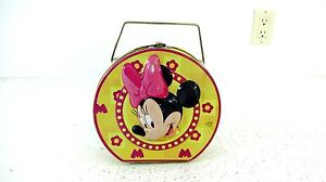 VINTAGE DISNEY MINNIE MOUSE SMALL TIN LUNCH BOX RARE STYLE