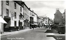 Mansfield Westgate unused sepia RP old postcard 1938 Valentines Good cond