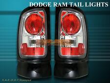 1994-2001 DODGE RAM TAIL LIGHTS CHROME BRAKE LAMPS PICK UP 1500/2500/3500