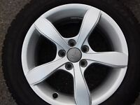 Original Audi A1 8X Rad Ersatzrad Alufelge 8X0071495 Dunlop 185/60R15 88H M+S WR
