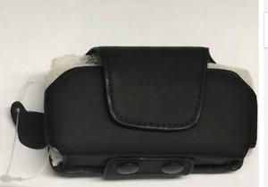 Leather Pouch & Belt Clip/Loop suit Telstra Flip 2 ZTE T21 Black 115 x 60 x 20mm