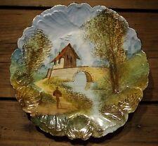 Assiette décorative fin XIX ème début XX ème peinte à la main