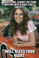 Daisy Duke Rebel 1969 Charger General  Pin up Girl Cave SIGN 4x6 Fridge Magnet Q
