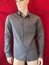 MONSOON Men's Long Sleeve Cotton Brown Paisley Shirt  Size M Chest 42""