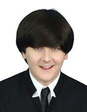 Mens Beatles John Lennon 1960's Dark Brown Fancy Dress Quality Costume Wig