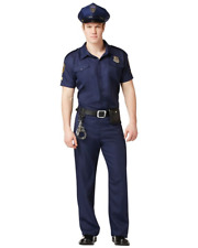 POLICE OFFICER HALLOWEEN COSPLAY PARTY COSTUME SHIRT ADULT MEN SIZE XL