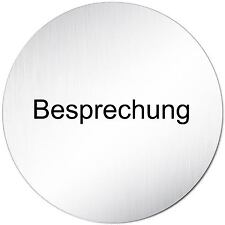 """Aluminium Schild """"Besprechung"""" 10 cm • Türschild • Tagung • Meeting • Alu • Tür"""