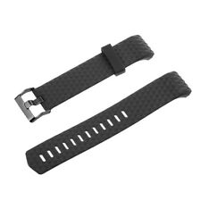 Replacement Silicone Sport Band Strap Clasp For Fitbit Charge 2 Watch Black
