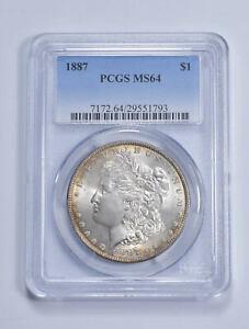 MS64 1887 Morgan Silver Dollar - Graded PCGS *549