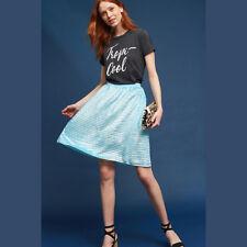 Anthropologie Isla Maude Womens Skirt Medium Blue Bubble Velvet Shimmer Rishima