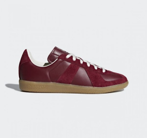 Adidas BW Army Leather Suede Sneakers Collegiate Burgundy Gum Sole