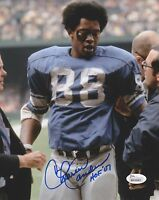 CHARLIE SANDERS HOF 07 Signed Autograph 8x10 Photo Detroit Lions JSA Witnessed