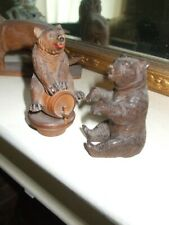 Two vintage Black Forest bears, excellent condition, 1930s era, nicely detailed