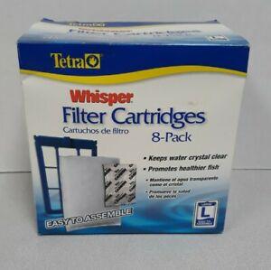 TETRA WHISPER FILTER CARTRIDGES LARGE 8 PACK NEW