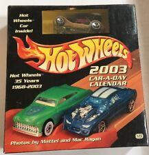 Hot Wheels 2003 Car A Day 35 Years Anniversary Box Calendar And Lexus SC400 Car