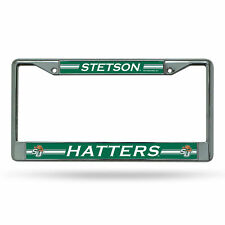 Stetson Mad Hatters NCAA Chrome Metal License Plate Frame