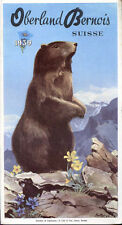 Prospectus-Tourisme : OBERLAND BERNOIS, Suisse. Travel Ephemera 1939-Marmotte