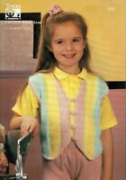 Tivoli Pattern 2131 Childs Waistcoat in Cotton Feel Aran, to fit 24 to 32 chest.