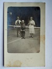 TENNIS tennisti vecchia cartolina antique vintage photo