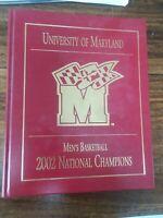 University of Maryland Men's basketball 2002 National Champions Gary Williams