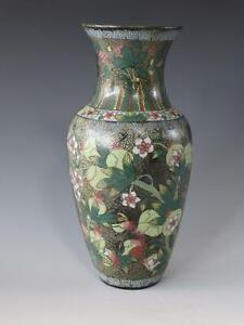 Antique Chinese Cloisonne Wall Pocket Vase with Pomegranate Decoration 18th/19th