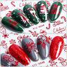 Decor Christmas Santa Nail Art Stickers Merry Claus Xmas Collection Transfers