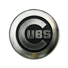 Chicago Cubs CE Silver Chrome Colored Raised Auto Emblem Die Cut Decal Baseball