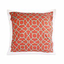 Dena Home Dakota One European Pillow Sham in Coral Cotton 26 X 26 New