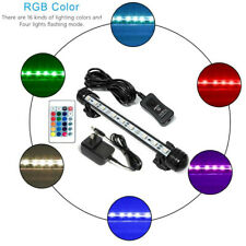 LED Aquarium Fish Tank RGB Submersible Air Bubble Light Remote AU Plug